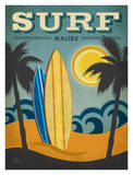 Surf Malibu Art by Renee Pulve