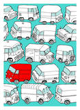 Odd Ones - Red Van Prints by Duncan Wilson