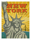 New York – The Empire State Posters by Renee Pulve