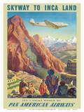 Skyway to Inca Land - Pan American Airways (PAA) Kunstdrucke von Paul George Lawler