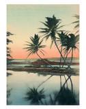 Coconut Lagoon - Hawaii & South Seas Curio Company Giclée-Druck