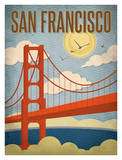San Francisco – Golden Gate Bridge Posters by Renee Pulve