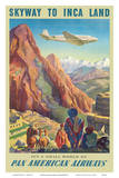 Skyway to Inca Land - Pan American Airways (PAA) Posters by Paul George Lawler