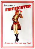 Garry Palm Tropicals - Firefighter Tin Sign Tin Sign