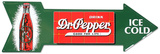 Dr. Pepper Arrow Tin Sign Tin Sign