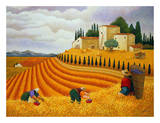 Village Harvest Poster by Lowell Herrero