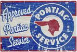 Rustic Pontiac Service Tin Sign Tin Sign