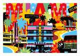 Miami Posters by  Lobo