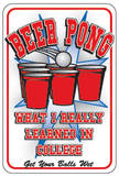 Beer Pong Tin Sign Tin Sign