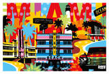 Miami Kunstdrucke von  Lobo