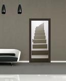 Kääntämällä portaikko oven taustakuva Mural Tapettijuliste