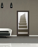 Turning Staircase Door Wallpaper Mural Mural de papel de parede