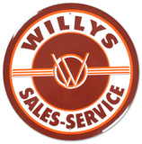 Willys Round Tin Sign Tin Sign