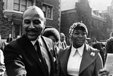 Betty Shabazz and Percy Sutton, 1972 Photographic Print by G. Marshall Wilson