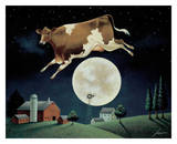 Cow Jumps over the Moon Prints by Lowell Herrero