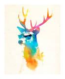 Sunny Stag Kunstdrucke von Robert Farkas