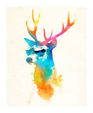 Sunny Stag Prints by Robert Farkas