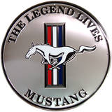 Mustang Silver Round Tin Sign Tin Sign