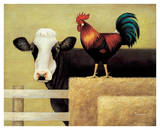 Barnyard Cow Art by Lowell Herrero