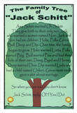 Jack Schitt Family Tree Tin Sign Tin Sign