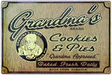 Grandma's Cookies Tin Sign Tin Sign