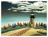 Flotte couleur arc-en-ciel Posters par Lowell Herrero