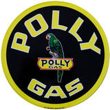 Polly Gas Round Tin Sign Tin Sign