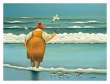 Pesca en las olas Láminas por Lowell Herrero