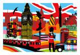 Londres Affiches par  Lobo
