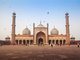 India, Delhi, Old Delhi , Jama Masjid - Jama Mosque Built by Shah Jahan Photographic Print by Jane Sweeney
