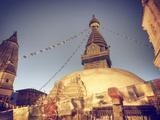 Nepal, Kathmandu, Swayambhunath Stupa Photographic Print by Michele Falzone