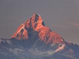 Nepal, Pokhara, Sarangkot, View of Annapurna Himalaya Mountain Range Photographic Print by Michele Falzone