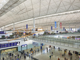 China, Hong Kong, Interior of Hong Kong International Airport Photographic Print by Steve Vidler