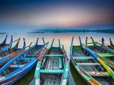 Sunrise, Amarapura, Mandalay, Burma, Myanmar Photographic Print by Peter Adams