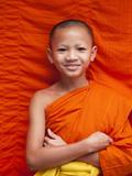 Laos, Luang Prabang, Wat Sensoukarahm, Portrait of Monk Photographic Print by Steve Vidler
