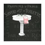 Chalkboard Bath I Premium Giclée-tryk af Sue Schlabach
