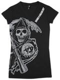 Juniors: Sons of Anarchy - V-Neck Cover Up Shirts