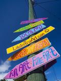 USA, Florida, Florida Keys, Islamorada, Signage, Robbie's Marina Photographic Print by Walter Bibikow