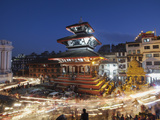 Trailokya Mohan Narayan Temple, Durbar Square (UNESCO World Heritage Site), Kathmandu, Nepal Photographic Print by Ian Trower