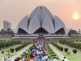 India, Delhi, Lotus Temple, the Baha'i House of Worship, Popularly Known As the Lotus Temple. Photographic Print by Gavin Hellier