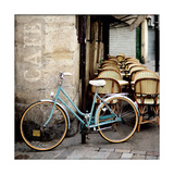 Cafe Bicycle Giclee Print by Marc Olivier