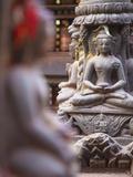 Statues at Swayambhunath Stupa (UNESCO World Heritage Site), Kathmandu, Nepal Photographic Print by Ian Trower