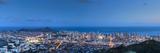 USA, Hawaii, Oahu, Honolulu Skyline and Diamond Head Crater Photographic Print by Michele Falzone