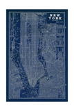 Blueprint Map New York Giclee Print by Sue Schlabach