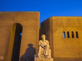Iraq, Kurdistan, Erbil, Statue of Mubarak Ben Ahmed Sharaf-Aldin at Main Entrance To the Citadel Photographic Print by Jane Sweeney