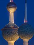 Kuwait, Kuwait City, Sharq, Kuwait Towers on Arabian Gulf Street Photographic Print by Jane Sweeney