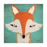 Fox Giclee-tryk i høj kvalitet af Ryan Fowler