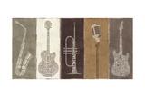 Type Band Neutral Panel Giclee-tryk i høj kvalitet af Michael Mullan