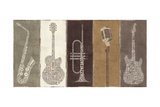 Type Band Neutral Panel Giclee Print by Michael Mullan