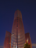 Azerbaijan, Baku, Flame Towers at Night Photographic Print by Jane Sweeney